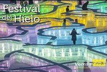 Festival de Hielo y Nieve en Harbin, China. / Laberintos, esculturas, castillos y hasta un piano fueron hechos completamente de hielo para exponer en el Festival de Hielo y Nieve en Harbin, China. Un evento que se celebra cada año desde 1963 y que dura un mes completo.