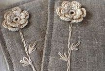 linen, flax & burlap/ len i stare koronki