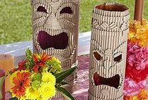 Luau Party! / Ideas range from napkins, plates, and banners to leis, coozies, and sealife.