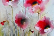 Schilderijen Aquarel / Deze schilderijen zijn in te lijsten. Geschilderd door Christa Beldman-Waanders