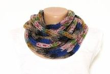 Handmade Knit/Crochet Scarfs/Neckwarmers/Shawls/Winter Necklaces by Purple Nicole (Nicole Cea Mov)