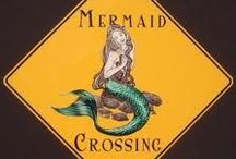 Mermaid Crossing / Mermaids and other myths of the sea. Started as research for sculpting polymer clay mermaids and grew to an obsesion for pictures or art pertaining to mermaids. / by DustyOldArmadillo