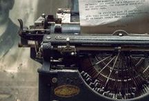 Writing Myself out with Typewriters from Past / typewriters, abandoned, left behind, decayed, forgotten / by Pitsit sekaisin