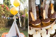Native American Pow Wow Birthday Party Camping Ideas / Tribal, Aztec, Pow Wow, Chevron, Native American, Arrow, Teepee, Chevron Birthday Party Ideas and Party Printables including Invitation cupcake toppers and banner