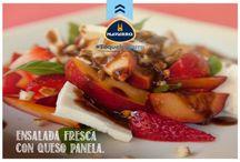 Ensalada fresca con Queso Panela /                         #ToqueNavarro