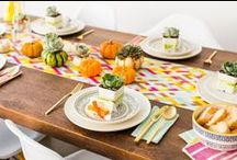 Friendsgiving by GatherNow / Gather with your friends, and give thanks for all the wonderful things in your life. Use these tips and DIY tricks to achieve the best Friendsgiving this year.   Photo credit: Brit +Co