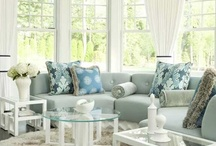 House Design / Great ides about how to decorate my house. Cozy living room, northern accents, fluffy pillows, white furniture, colorful flowers, and all the nice thing that makes my home smile.