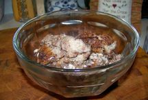Recipes--Desserts / My favorite desserts are cheesecake (I have a Junior's Cheesecake Cookbook--delicious).  Next come the ones I grew up with like pie, Chocolate Bread Pudding, and Grapenut Pudding.  Oh, wow! do I love these.  My kids grew up on Chocolate Bread Pudding and also my grandkids.  They all love it.  It is soooo good.  I think most people like dessert. / by Courtney Ricker