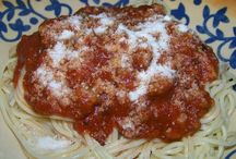 Recipes--Italian / Italian food is to die for....yummy!  We have it as often as I can get away with it.  I'd eat it five to six days a week if I could.  When I make spaghetti sauce it is in a huge pot on the stove all day and then into the freezer it goes in smaller containers so I have the right amount when I need it.  My hubby likes Italian food, too, so all is well (smile). / by Courtney Ricker