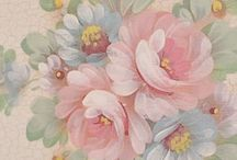 Flowers--Make & Paint / This includes the making of both fabric and paper flowers.  I have also included instructions for painting roses on furniture.  I am interested in painting them on Shabby Chic furniture, but they would work well with the vintage crafts and cards, too.   / by Courtney Ricker