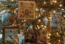 CrossStitch Pillow Ornaments / I do ornaments each year for the kids, grandkids, and great grandkids, and they choose out of a basket or wooden bowl.  There are so many nice ways to finish them.  It doesn't have to be just for Christmas.  You could do all the holidays and bring them out to decorate for the special day or to give to a friend.  Something like this is enough to make them happy and cared for.  Some of the little ones from LLH & CCN are on  here. / by Courtney Ricker