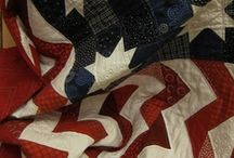 Quilts--Patriotic / Besides the love I have for my country and the flag being the symbol for which it stands, I love the gorgeous combination of colors...the red, white, and blue. We have the most beautiful flag of all the countries in the world. Every time that our flag is saluted at various events and our national anthem sung, it makes my heart come up in my throat with pride. I am so proud and thankful of the brave men and women who fight to keep us free. Thank them every time you see them in public. / by Courtney Ricker