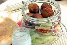 "Recipes--Falafel / Falafel is something fairly new to me.   My oldest granddaughter introduced me to it a short time ago, and I love the way this ""healthy eating place"" served it....in a spinach wrap with some other stuff tucked in.  Wow, was it good.  I couldn't wait to get back there and have another one.   I have been thinking about making it myself and see if I can replicate what I had there.  Besides, it is very healthy. / by Courtney Ricker"
