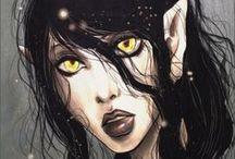 Fantasy ● Elf ● Dark ● Female