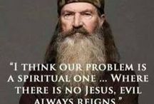 Duck Dynasty / My husband and I watch it whenever it is on.  Some of the repeats go forever into an evening and we sit and watch.  We think it is so funny and love that family.  Plus they are Christians and we love that, too. / by Courtney Ricker