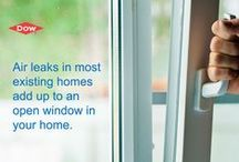 Sealing Windows & Doors / Learn how to properly air seal the cracks around your windows and doors.
