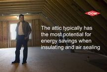 Air Sealing Attics / Learn how to properly air seal your home's attic.