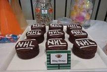 Sport Party / Ideas for a hockey themed birthday party