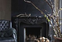 Fireplace / #Black #retro #dark #baroque