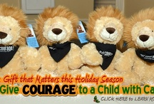 www.sendcourage.org / Great gift idea for kids! Perfect for presents or for someone who needs a little Courage or who has lots of Courage!  Courage The Lion is soft and super cute! T-shirts, hats and cool wristbands too!