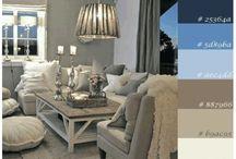 Inneneinrichtung und Deko / Ideen zur Einrichtung von Wohnräumen, Organisation und Dekoration überwiegend im shabby/ Landhaustil