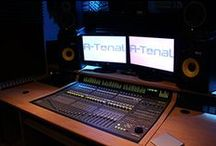 Recording Studio Desks / A collection of custom built recording studio desks by Studioracks.  www.studioracks.co.uk