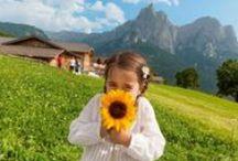Sommerurlaub in Südtirol Bauernhof /  Blauer Himmel, grüne Wiesen, leuchtende Obstgärten