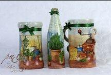 die Keramiken / #bayern #allgäu #bastelkurse #exklusiv_geschenke #decoupage #keramik