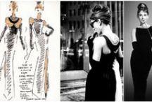 Bocetos de vestuario / Bocetos originales de diseñadores de vestuario para cine. En algunos pines se muestra junto al fotograma de la película en el que aparece el traje.