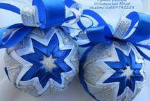 Новогодние игрушки и украшения / Новогодние елочные игрушки; елочные шары; шары артишок; шары канзаши;