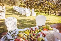 TUSCAN WEDDING / A Tuscan Wedding...  strawberry grape, figs, pomegranates, pomegranates of forest, nuts with husks, chestnuts, persimmon and rice, confetti...perfect ingredients for a perfect day in Heaven...