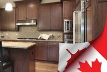 Stained wood kitchen cabinetry / Some beautiful stained kitchen cabinet design ideas.