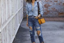 Trousers: Jeans / This board contains images from recent ready-to-wear collections and popular fashion blogs.  The images are roughly in reverse chronological order, with the most recent images at the top.