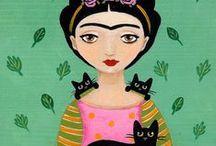 Batik en lienzo