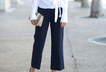 Trousers: Straight-Legged / 0