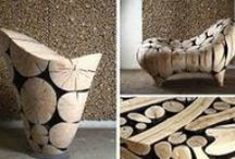 """Birch log uses / This board is for generating concepts to use the 500 + small diameter (3-9"""") birch logs that are being removed this month from campus. Please add creative ideas you find that fit this material."""