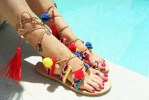 HANDMADE LEATHER SANDALS / Handmade Genuine Leather Sandals decorated with pearls ,laces, crystal stones, metal findings and more. Summer style, dressy style, trendy style, beautifully made ladies sandals for every occasion.  Custom orders are always welcome
