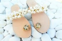 BRIDAL EMBELLISHED SANDALS / Handmade genuine leather sandals decorated with pearls , laces, crystal stones, metal findings and more. The perfect choice for your summer beach wedding. Luxury Bridesmaid's sandals that your friends will love to wear. We are ready to prepare your custom order based on your wedding's unique style.