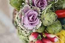 Flowers: Kale / We used kale as one of our bouquets in our Valcour Island shoot in the current issue (Volume 3). We love the vibrancy and versatility of this edible plant!