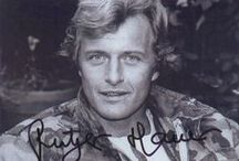 Rutger Hauer / GM / Great Dutch actor,great & lovely handsome men. My hero from my youths,and my favorite actor. Act in so many movies,In the Netherlands and the US.