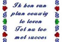Dutch Tiles Quote/Boerenbont tegeltjes Spreuken / GM