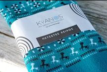 KYANOS Hand Towels / Hand Towels inspired from ancient Greece from the new collection KYANOS by Lacrimosa Design.   www.lacrimosadesign.com