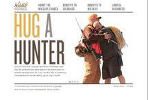 Hug A Hunter Campaign / Our design for the Hug A hunter campaign