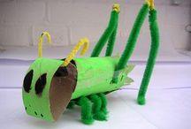 """Thema Insecten / Ideeën rondom het thema """"insecten/kriebelbeestjes"""" in de groepen 1 en 2"""