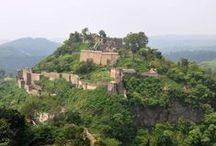 Kangra Fort Himachal  Pradesh / The Kangra Fort was built by the royal Rajput family of Kangra (the Katoch dynasty), which traces its origins to the ancient Trigarta Kingdom, mentioned in the Mahabharata epic. It is the largest fort in the Himalayas and probably the oldest dated fort in India.