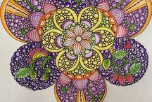 Coloring inspiration / Adult colouring