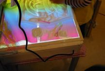 Kleuters: Lichttafel / Ideeën en voorbeelden van het werken met een lichttafel bij kleuters