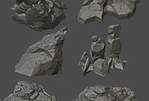 Interesting Rock Formations References / Rock formation references for making videogame props