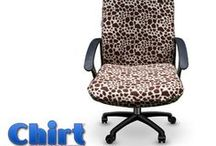 Custom Office Chair Covers / Browse our collection of Chirts (custom office chair covers) to see a variety of fun colors and patterns available for purchase. All regular products are available for sale on our website. Limited Edition Patterns go straight to our Etsy shop! Click the image to find your favorites!