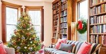 Books & Holidays / Who says you can't decorate for the holidays with books?